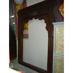 Large antique Indian arch with teak patina 170x265 cm