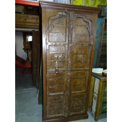 Old Indian wardrobe with arched doors 202 cm high