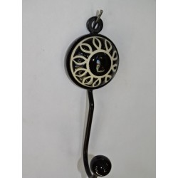 black round paquerette coat hook