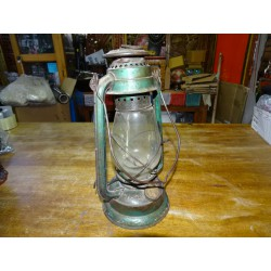 Old Metal Oil Lantern and Glass Globe 1