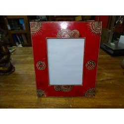 Photo frame 15x20 cm painted in relief dimension 15x30 cm - 2