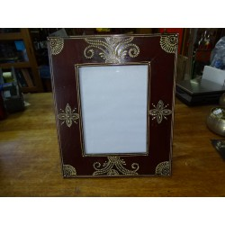 Photo frame 15x20 cm painted in relief dimension 15x30 cm - 3