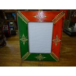Photo frame 15x20 cm painted in relief dimension 15x30 cm - 5