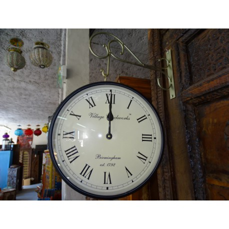 English style double side station clock - small size 26 cm