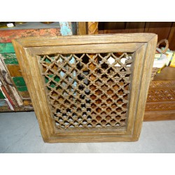 Indian rosewood grid window - 56X5X58 cm