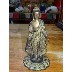 Large bronze statue of the standing Buddha - 28 cm