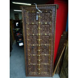 Small and old cupboard door with moucharabieh 71x173 cm