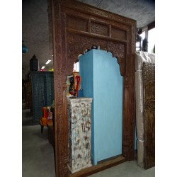 Large antique Indian arch with teak patina 148x256 cm
