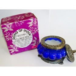 Scented candle in glass jar fragrance NAG CHAMPA