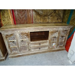 Long flat tv cabinet with 4 alcove doors and 2 drawers 170x80 cm