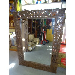 Large hand-carved Indian mirror 120 x 90 cm