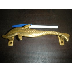 handdle Middle Bronze golden dolphin