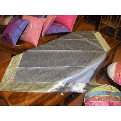 Taffeta brocade tablecloths 110x110 cm gray