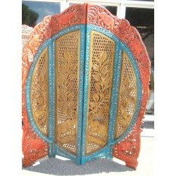 Screen round elephant gold / orange / blue
