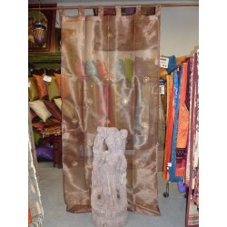 Embroidered arabesques and mirrors glossy Brown