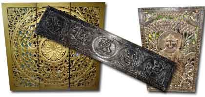 carved panels