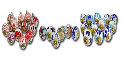 Porcelain handle set