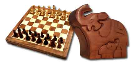 Wooden games and toys