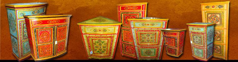Meubles indiens peints main for Meuble indien