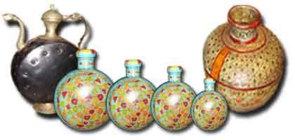 Pots, gourds, indian vase