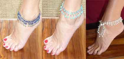 Indian ankle bracelets