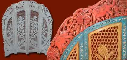 paravents indiens t te de lit d coration indienne les meubles chinois. Black Bedroom Furniture Sets. Home Design Ideas